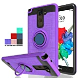 Wtiaw Compatible with LG Stylo 2 Plus Case,LG Stylo 2 Case,LG Stylo 2 V/LG Stylo 2V Case,LG Stylo 2 Case,LG Stylus 2 Case,360 Degree Rotating Ring Kickstand Case for LG LS775-CH Purple