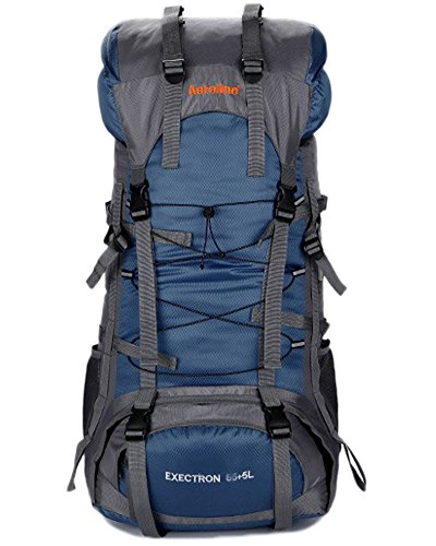 Minetom 75L Grande Capacità Zaino Ciclismo Campeggio Viaggio Escursionismo Montagna Alpinismo Tactical Backpack Impermeabile Blu One Size(30*20*70 Cm)