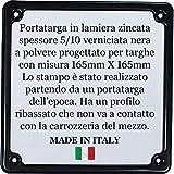 Portatarga Cornice Targa NERO Per Moto fino al 1985