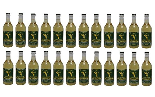 24x 500 ml Retsina Malamatina Super Spar Set geharzter Weißwein aus Griechenland 24 Flaschen Weiß Wein + 2 Probiersachets a 10 ml Olivenöl von Kreta gratis