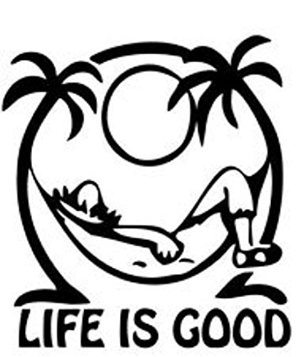 Keen Life is Good at The Beach Decal Vinyl Sticker|Cars Trucks Walls Laptop|Black|5.5 in|KCD465