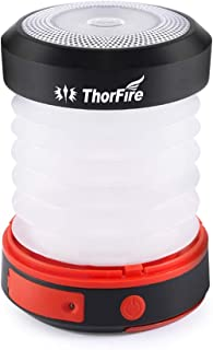 LEDランタン ThorFire ソーラーライト USB充電式 電池不要 折り畳み式 モバイルバッテリー機能 軽量 アウトドア 夜釣り 防災対策 CL04