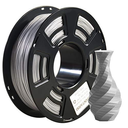 Filamento PLA 1,75 mm Sparkly Silver, GIANTARM 3D Stampante Filamento PLA 1 kg Spool