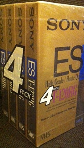 Check Out This SONY ES HIGH Grade T-120ESHGC VHS Tapes (4 Pack)