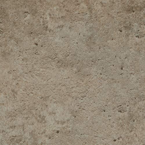BODENMEISTER BM70439 Vinylboden PVC Bodenbelag Meterware 200, 300, 400 cm breit, Steinoptik Betonoptik hell-grau