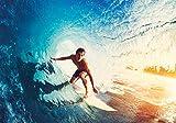 PICSonPAPER Hochwertiges Poster Wellenreiten Surfen Welle,