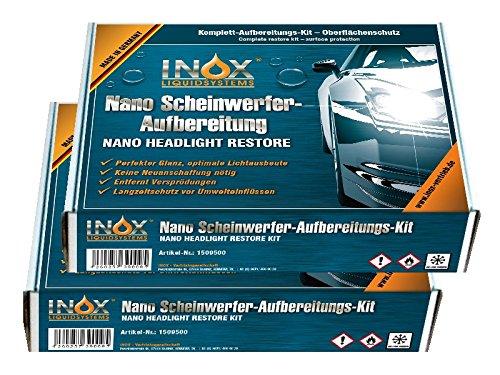 INOX Nano Scheinwerferaufbereitung-Set, 2x - Nanoversiegelung für Auto-Scheinwerfer