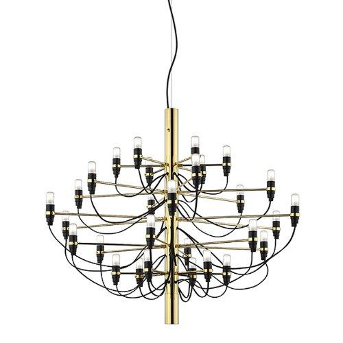 Flos hanglamp 2097 S - messing Gino Sarfatti 1958, staal, messing, ijzer, woonkamerlamp - tafellamp - hanglamp - plafondlamp