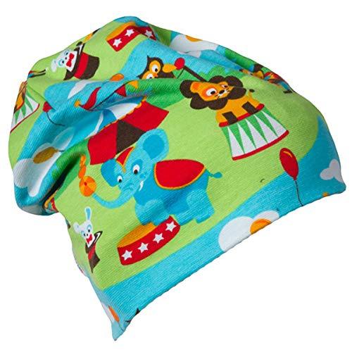 JNY Colourful Kids Bébé Fille/Garçons Bonnet Intermédiaire Beanie Différents Modèles au Choix - Lion Circus, 44/46