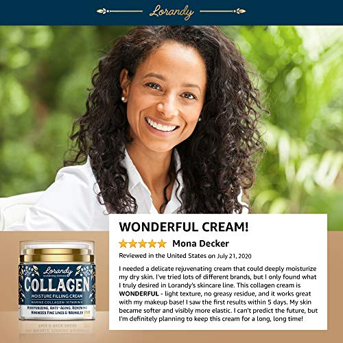 51Zy89bXJwL - Collagen Cream - Anti-Aging Face Moisturizer for Women - Made in USA - Day & Night Moisturizer for Face - Marine Collagen Face Cream - Antiwrinkle Face Cream - Collagen Face Cream with Vitamin E