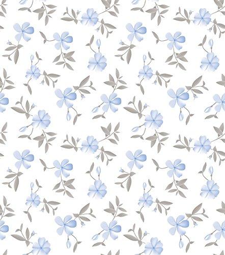 Papel de Parede, Floral, Azul, 1000x52 cm, Bobinex Uau