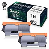 2-Pack Black TN450 Compatible for Toner Cartridge Replacement for Brother DCP-7060D DCP-7065D HL-2220 MFC-7360N HL-2242D MFC-7860DW HL-2275DW Printer,Toner Cartridge.
