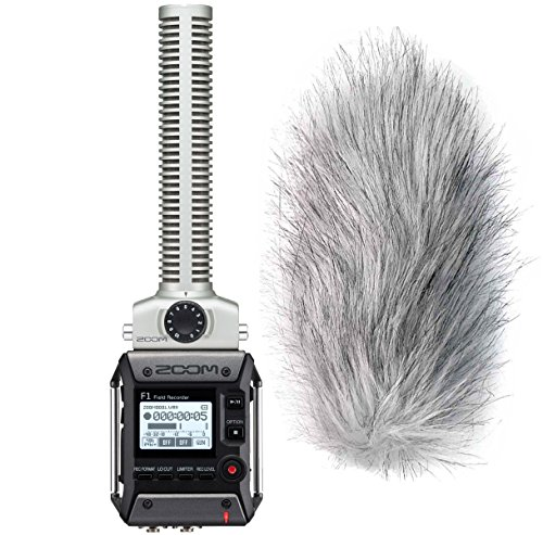 Zoom F1-SP Field Recorder met richtmicrofoon + Keepdrum windscherm WS-WH