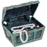 Yiyu Acuario acuarios Cofre del Tesoro decoración del Ornamento del Acuario de la decoración del Ornamento del Tesoro bajo el Agua en el Pecho x (Color : Blue)