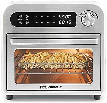 Elite Gourmet Programmable 10L Digital Air Fryer Oven