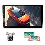 UNITOPSCI Double Din Car Stereo with Bluetooth 9'' HD Touch Screen Car Radio Multimedia Player FM Radio Receiver, MP5 Player, USB Input, Mirror Link, SWC with 8 LEDs Backup Camera