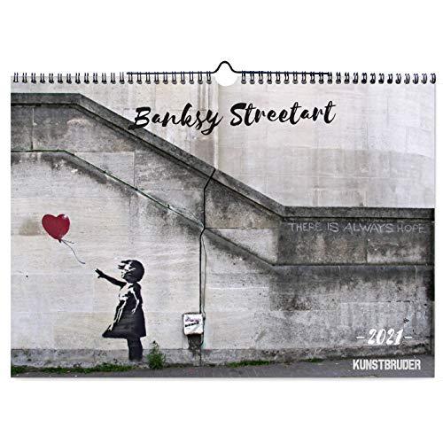 Banksy Kalender 2021 A 3 - Wandkalender in A3 Querformat mit den besten und schönsten Bildern - Jahreskalender Banksys Graffiti Wohnzimmerkalender Bürokalender (Streetart) (A3)