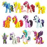 Funnyshow - Figura de My Little Pony, de PVC, juguetes de fiesta de cumpleaños (12 piezas)