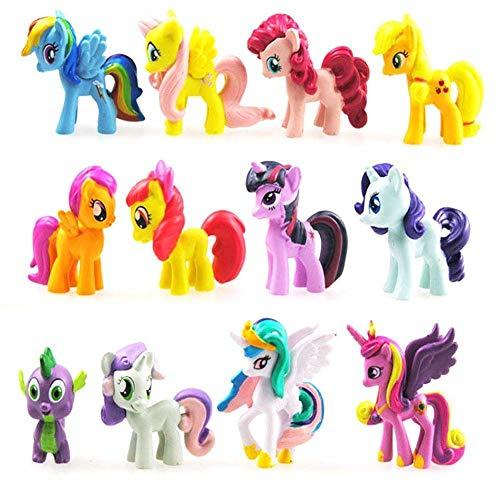 Funnyshow 12 Stück Figur My Little Pony, My Little Pony, PVC Figuren, Geburtstagsparty-Spielzeug (12 Stück)