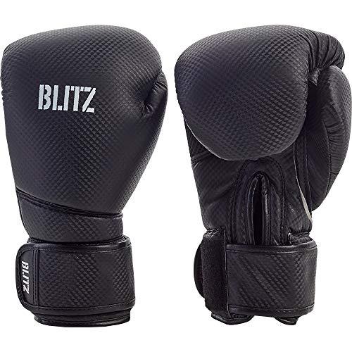 Blitz Guantes de Boxeo de Carbono Unisex, Color Negro, 14 onzas