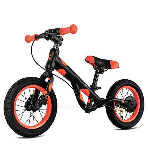 YumEIGE kinderfietsenframe van koolstofstaal, kinderfiets-schokdemper-rubberen banden, in hoogte verstelbaar, 2-8 jaar oud cadeau