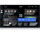 Tristan Auron BT2D7025A Android 10.0 Autoradio mit Navi + OBD 2 und DAB+ Box I 7' Touchscreen GPS Bluetooth Freisprecheinrichtung I 32GB ROM I WiFi USB SD 2 DIN