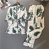 ISKER Ladies' Pajamas Women Sleepwear Satin Silk Fashion Pyjamas Women Pajamas Sets 2019 Spring Long Sleeve Elegant Female Suit