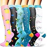Sooverki Calcetines de compresión para Mujeres y Hombres 20-25 mmHg es el Mejor Graduado atlético,...