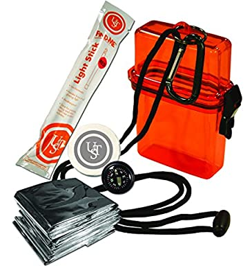 UST Watertight Survival Kit 1.0 with Durable, Lightweight Construction, Survival Blanket and Emergency Tools while Camping, Hiking and Outdoor Survival by Revere Supply Company Inc.
