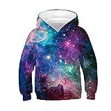 Basoteeuo Galaxy Hoodies for Boys Girls Kids Teen Hoodie Sweatshirts Funny Clothes 8-11T