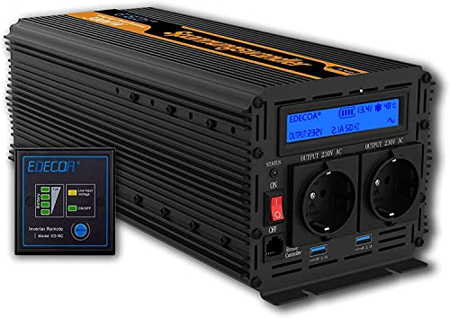 EDECOA power inverter 12v 220v inverter 3000w e picco 6000w invertitore 12v a 220v con Telecomando