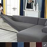 Youjoy Elastic L Shape Sofa Covers Sectional Sofa Covers-Jacquard Fabric Furniture Sofa Slipcover