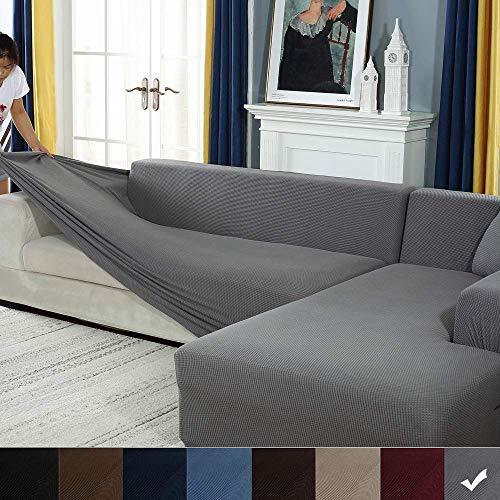 YJOY Sofabezug Sofaüberwürfe für L-Form Sofa elastische Stretch Sofabezug,Set für 1-4 Sitzer Sofa