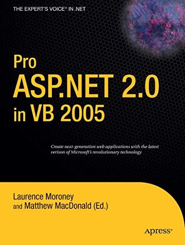 Pro ASP.NET 2.0 in VB 2005 (Expert's Voice in .NET)