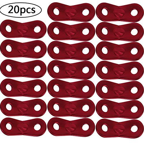 BETOY 20pcs Tensores de Cuerda - Tent Rope Fastener Aleación de Aluminio Ajustador de Guying para Tienda de Camping Senderismo al Aire Libre