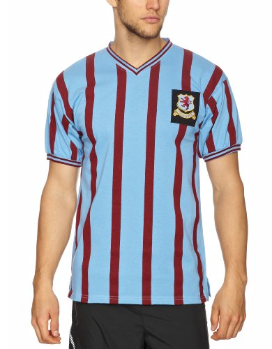 Score Draw Official Retro Herren Trikot Aston Villa FA Cup Finale 1957 XL Sky and Claret