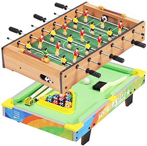 AJH 2 In 1 Tischfußball-Fußballtisch/Billardtisch-Set Mini Portable Multifunktionsspiel-Fußballtisch Eltern-Kind Interaktives Freizeitspielzeug