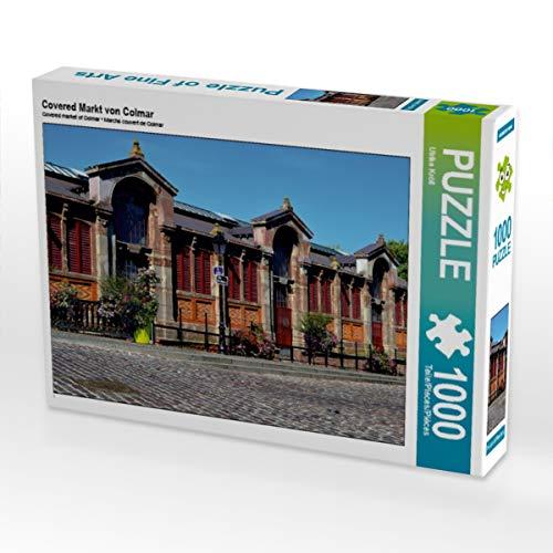 CALVENDO Puzzle Covered Markt von Colmar 1000 Teile Lege-Größe 64 x 48 cm Foto-Puzzle Bild von Ulrike Kröll