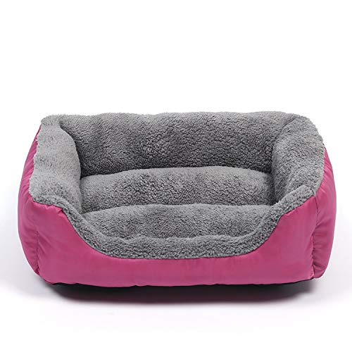 Gentle Illusion Dog Beds Waterproof Bottom Bed for Dogs Soft Fleece Warm Cat Bed House Petshop Puppy Bed Pet Cushion Mat for Large Dogs,Pink,XL