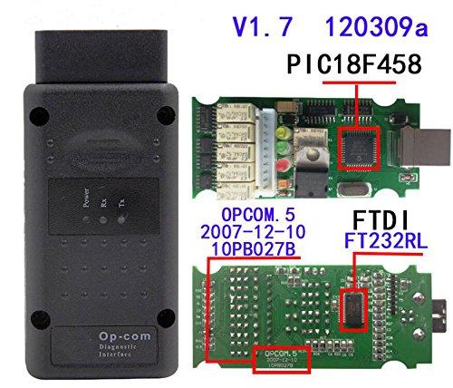 HaoYiShang OP-Com Firmware V1.7 Software 2014V Can OBD2 für Opel mit PIC18F458