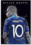 ZRRTTG Lienzo Pintura Al óLeo Kylian Mbappe Futbolista francés e Imagen para decoración de Habitaciones Poster Y Estampados Arte Cuadros 15.7'x23.6'(40x60cm) Sin Marco
