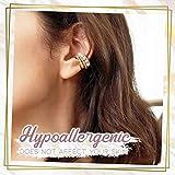 BST&BAO Ear Cuff para niñas, Juego de aretes Ear Cuff on Ear Cuff No perforante Cartílago de la Oreja Clip en el aro Envolvente Cartílago...