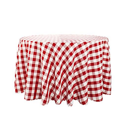Yosemite - Mantel a Cuadros para Hotel, Restaurante, Cocina, Comedor, Mantel de Tela para decoración de Navidad, 120 x 160 cm, Color Rojo