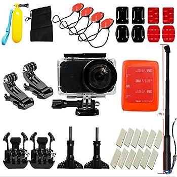 Flycoo Xiaomi MIJIA Mini 4K Action Camera Accessori Custodia Impermeabile Kit Attrezzatura Sport Surf Sci Nuoto Bastone di Galleggiabilità Base Fissaggio Anti-appannamento