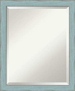 Amanti Art Framed Mirrors for Wall   Sky Blue Rustic Mirror for Wall   Solid Wood Wall Mirrors   Small Wall Mirror 18.25 x 22.25