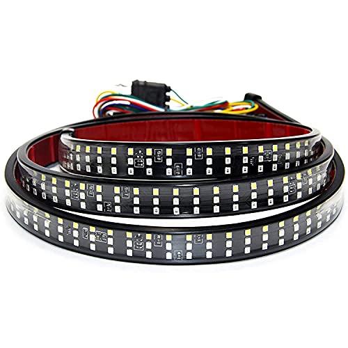 SOCAL-LED 1x 60' Triple Row LED Tailgate Light Bar Strip Red White Yellow...