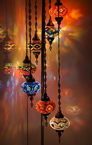 Türkische Marokkanische Tiffany-Stil Glas Mosaik Stehlampe Nachtlicht Deko Licht in der Birne