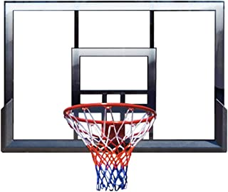 LHNEREGLHNEREG Aro De Baloncesto Montaje En Pared, Tableros Baloncesto Seguros Interiores Al Aire Libre Resorte Amortiguad...