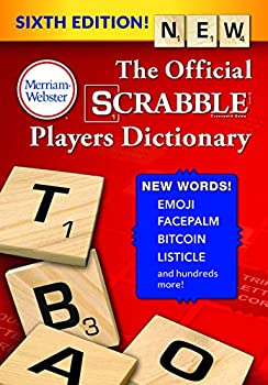 The Official Scrabble Players Dictionary Sixth Ed  Jacketed Hardcover  2018 Copyright