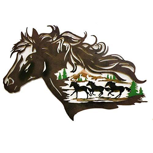 Handmade Metal Western Horse Shadow